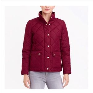 🆕 J. Crew Burgundy Quilted Puffer Jacket